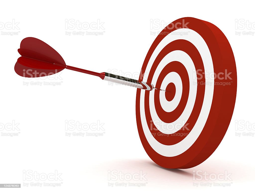 Dart on Target stock photo