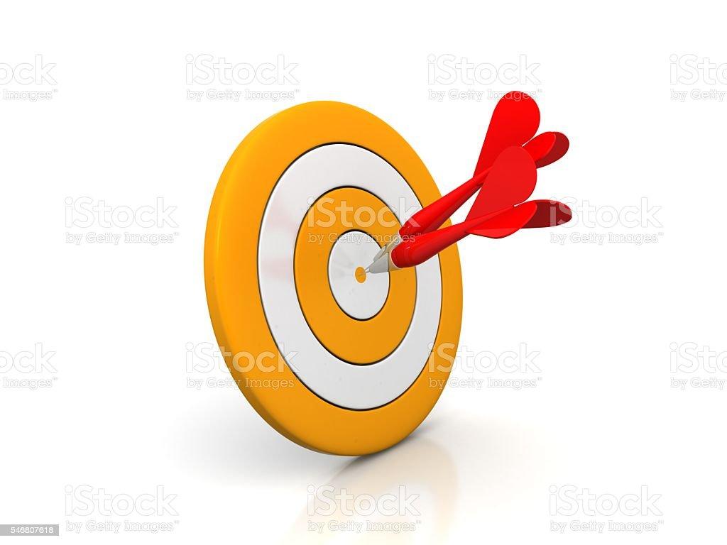 Dart on Target stock photo
