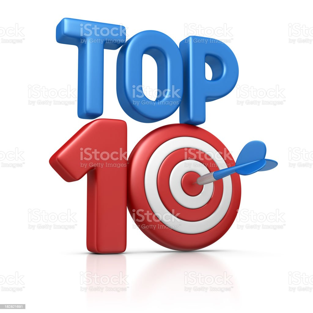 TOP 10 dart stock photo