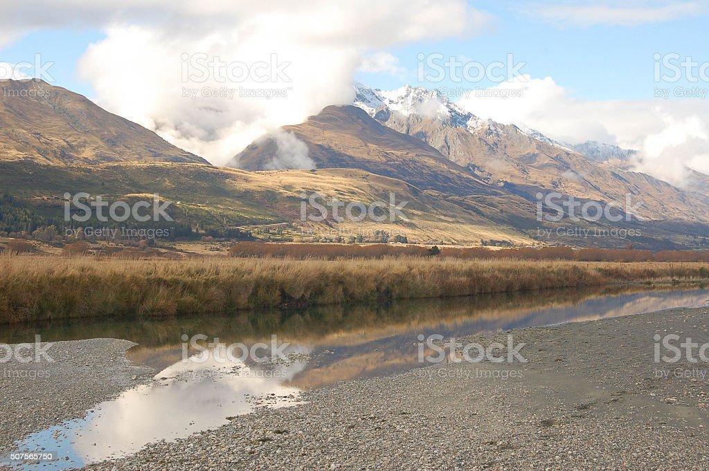 Dart River, New Zealand stock photo