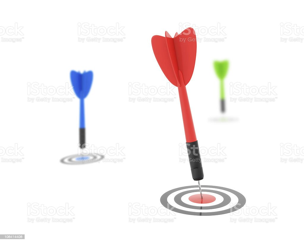 Dart Success Concept stock photo