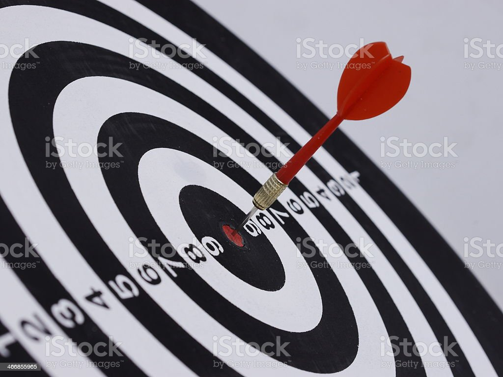dart target aim stock photo