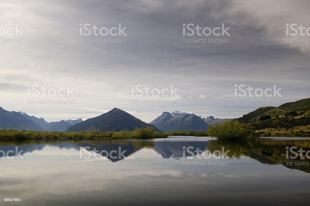 Dart Valley Reflections stock photo