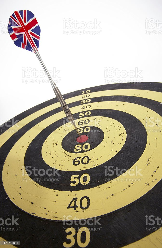 dart with british flag royalty-free stock photo