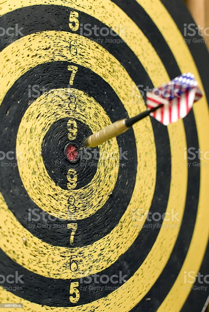 Dart with usa flag royalty-free stock photo