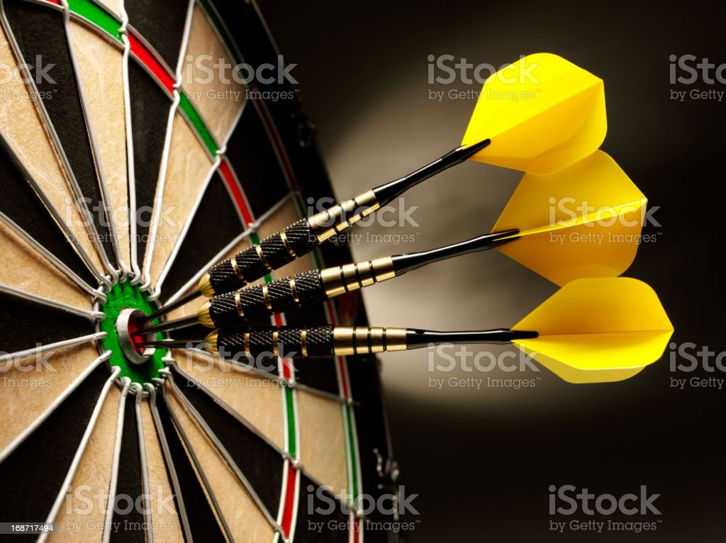 Dartboard and Darts royalty-free stock photo