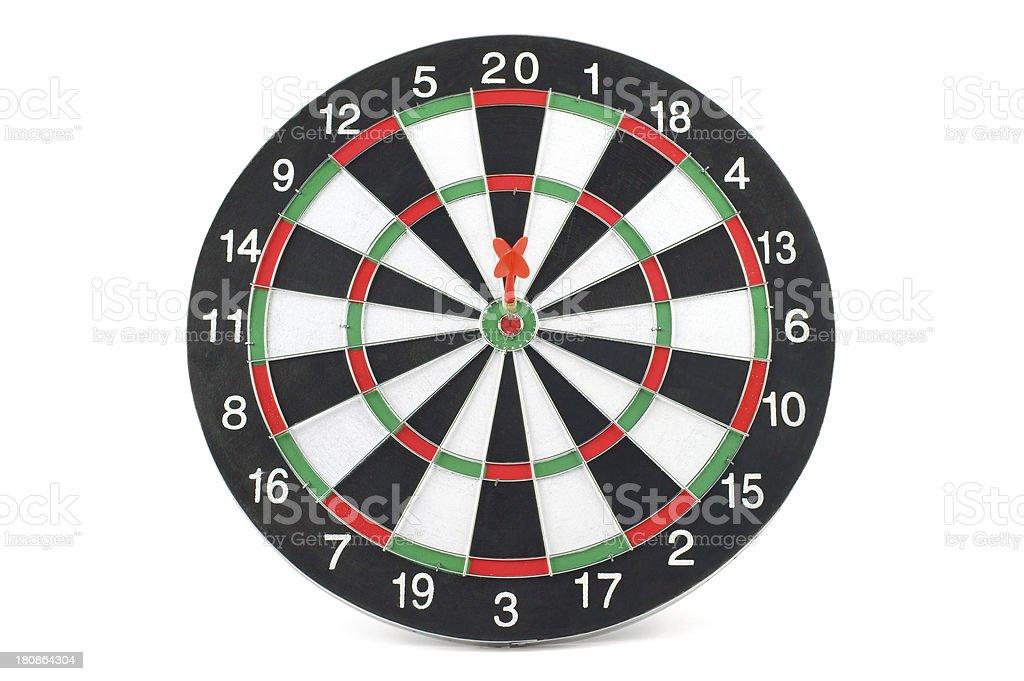 Dartboard Bull's Eye royalty-free stock photo