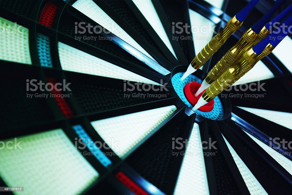 Dartboard center stock photo