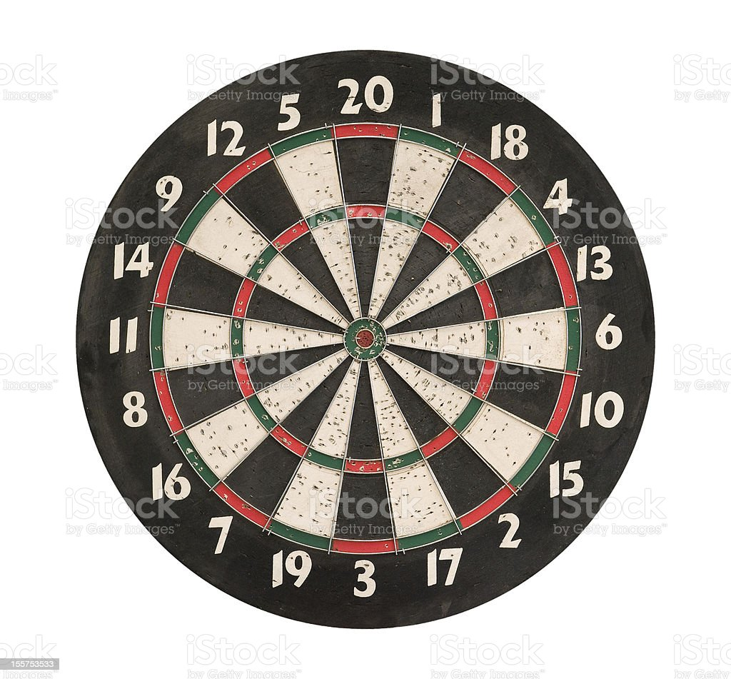 Dartboard isolated, clipping path royalty-free stock photo