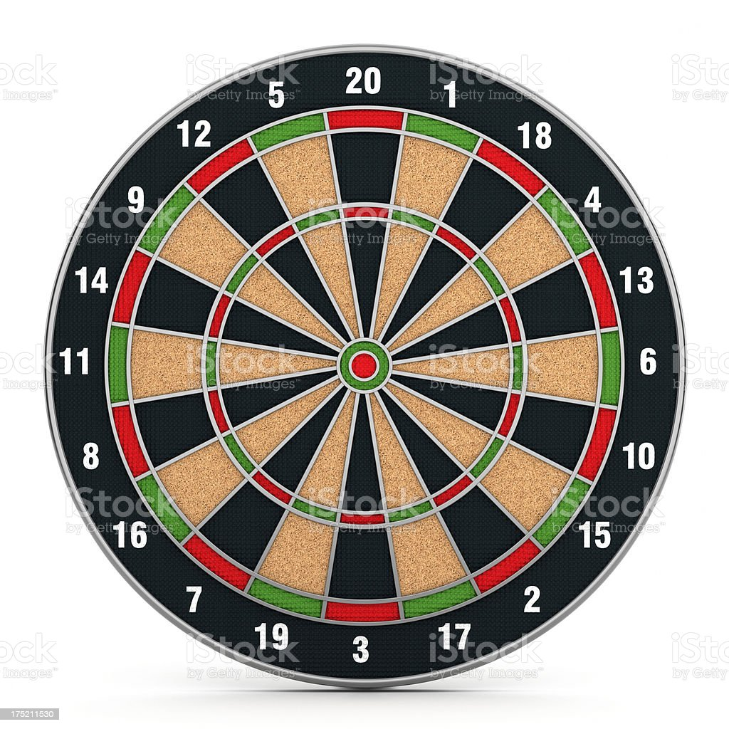 Dartboard royalty-free stock photo