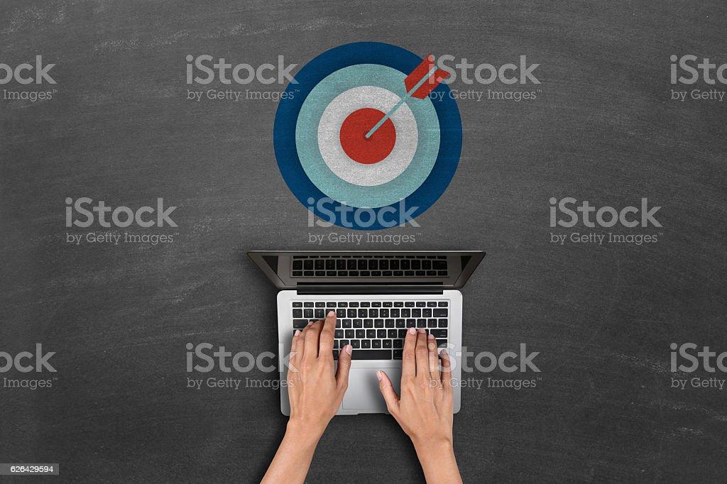 dartboard target concept stock photo