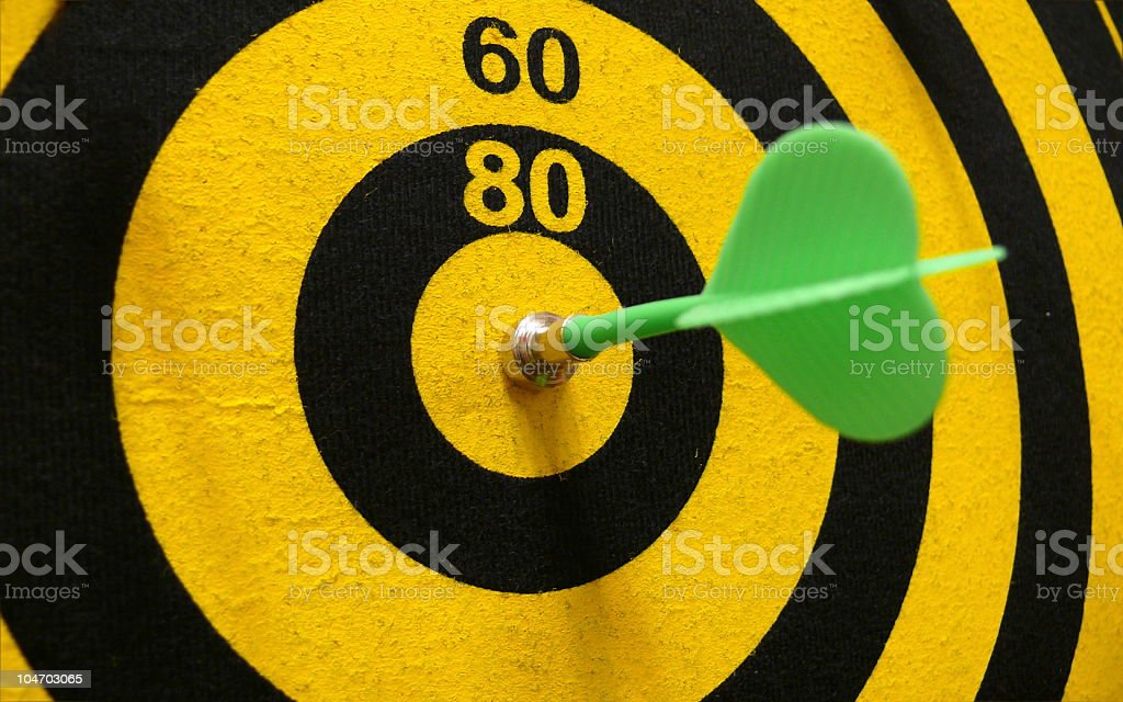 Dartboard with magnetic arrows royalty-free stock photo