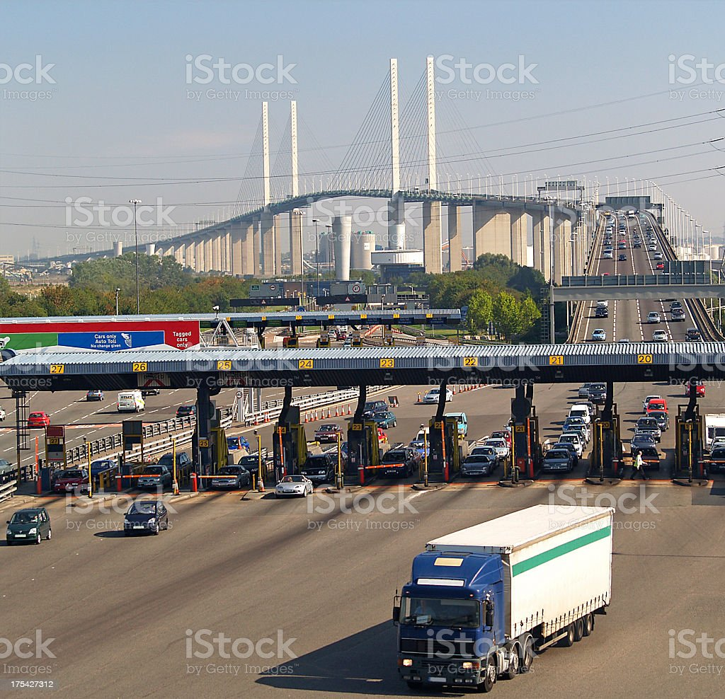 Dartford Crossing stock photo
