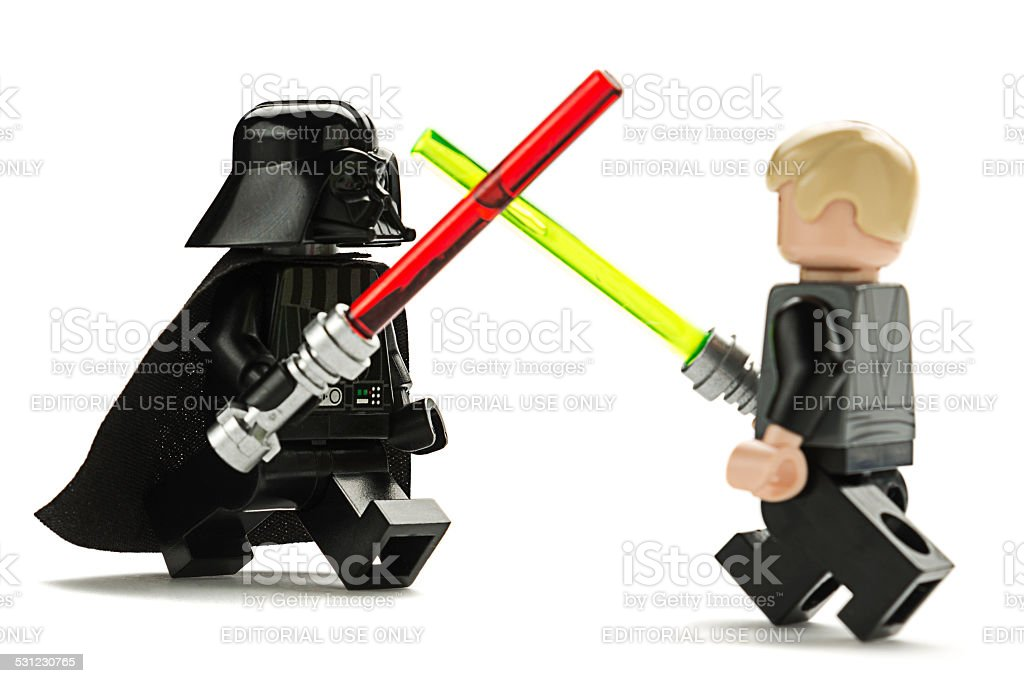 Darth Vader and Luke Skywalker stock photo