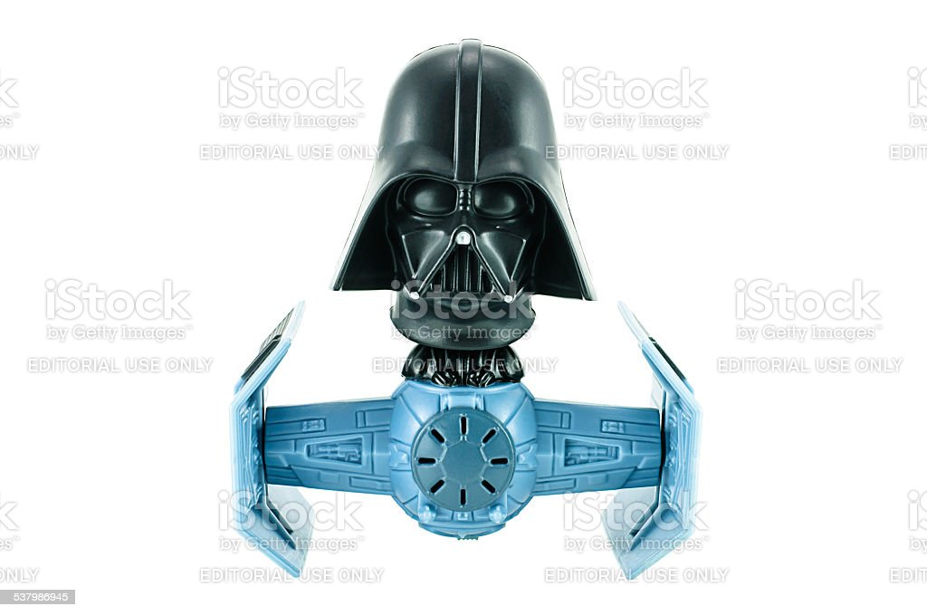 Darth Vader bobble head tie figter stock photo