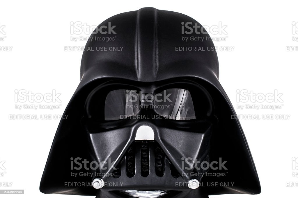 Darth Vader's head stock photo