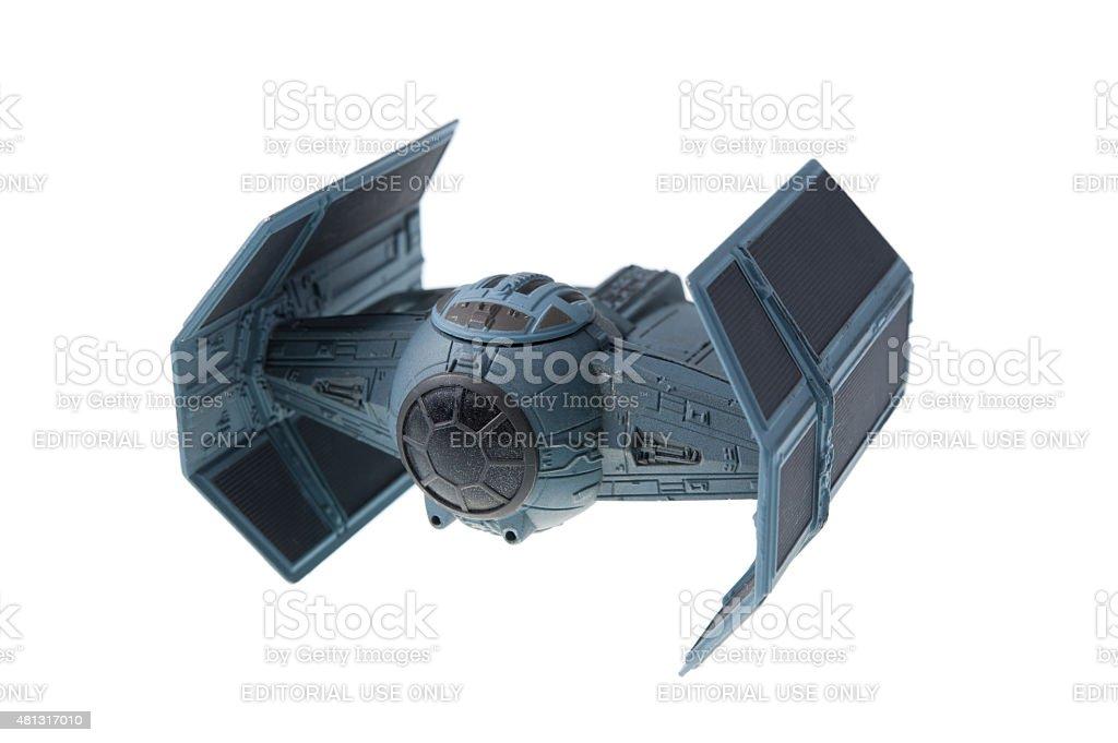Darth Vader's TIE Advanced x1 starfighter stock photo