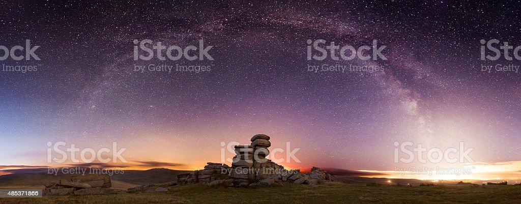 Dartmoor at Night stock photo