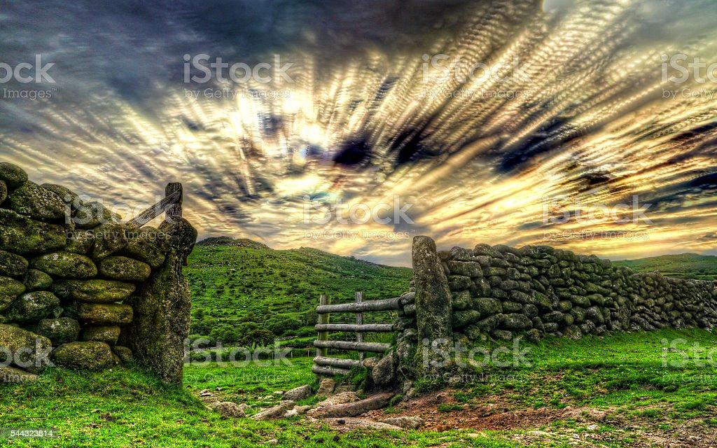 Dartmoor Gateway stock photo
