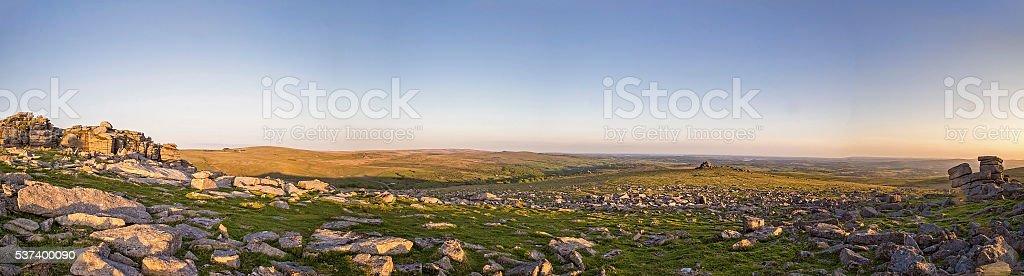 Dartmoor Great Staple Tor stock photo