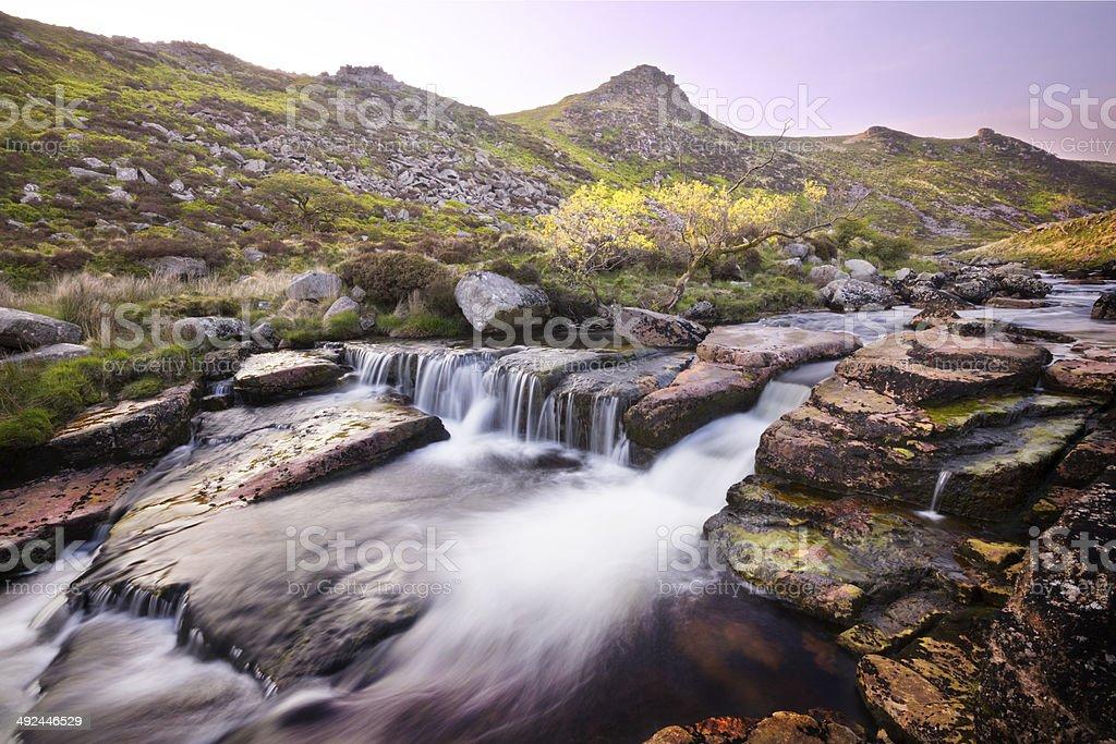 Dartmoor River stock photo
