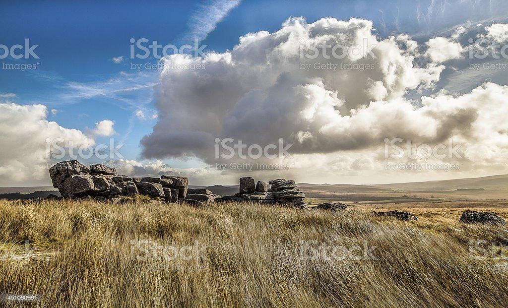 Dartmoor Tor stock photo