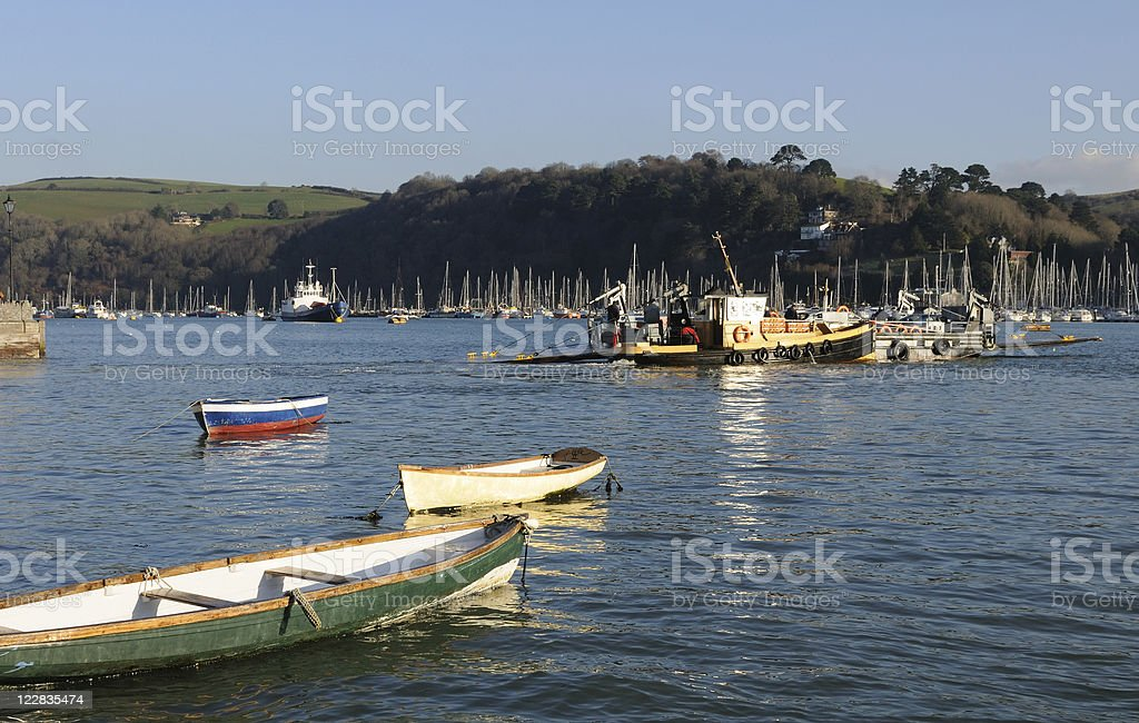 Dartmouth Lower Ferry Crossing stock photo