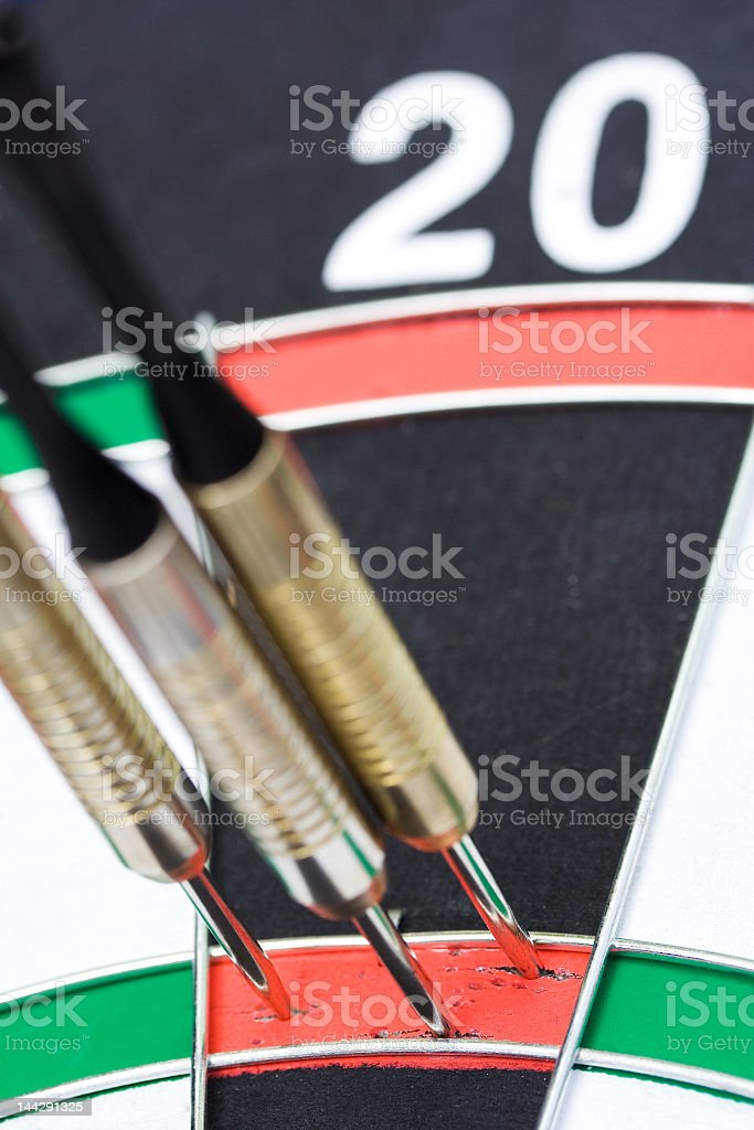Darts. 180 points hit royalty-free stock photo