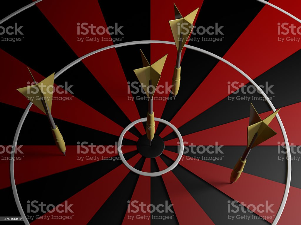darts 3D rendering stock photo