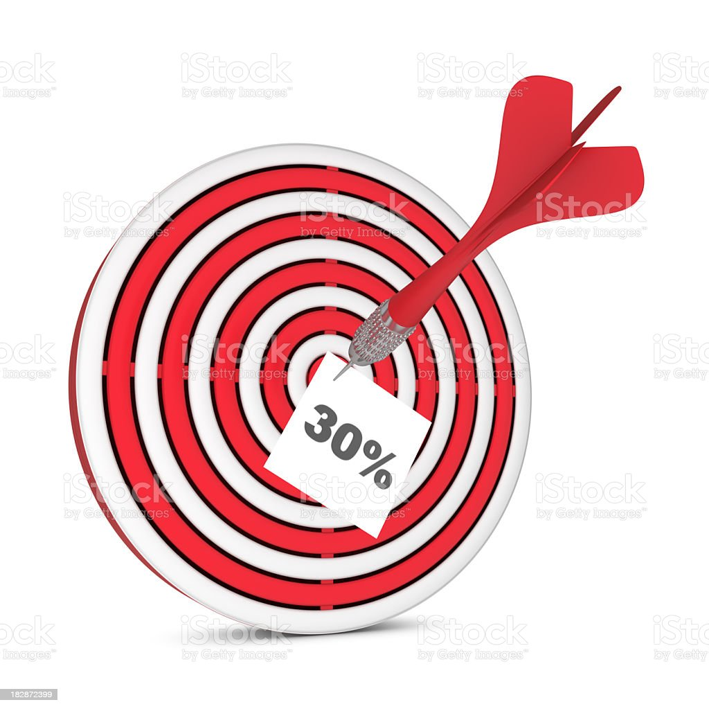 Darts and Sign 30% royalty-free stock photo