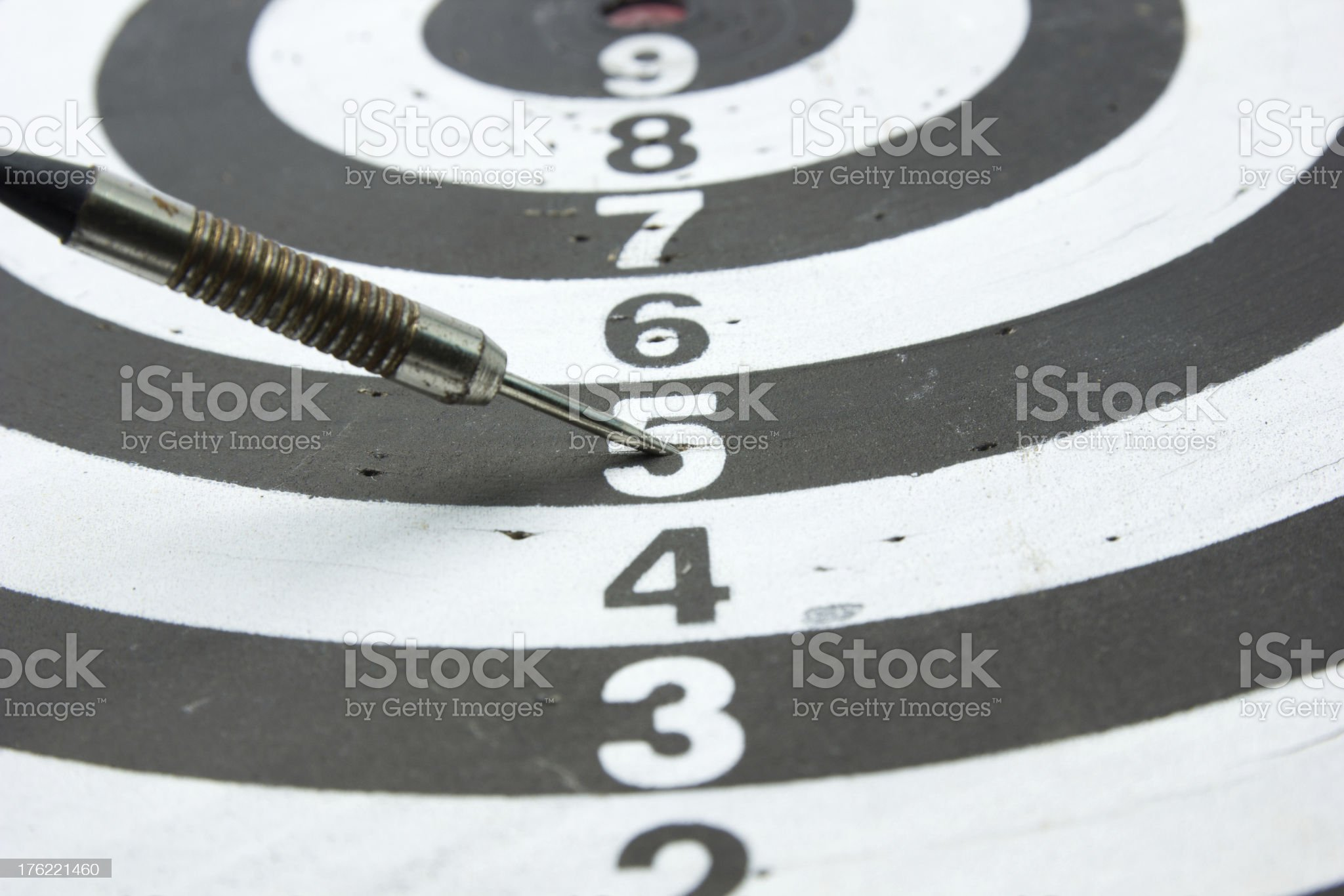 Darts Arrows  In number 5 royalty-free stock photo