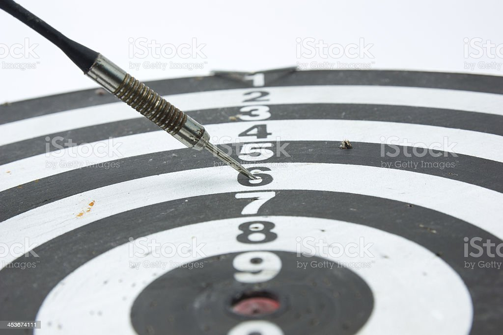 Darts Arrows  In number 6 royalty-free stock photo