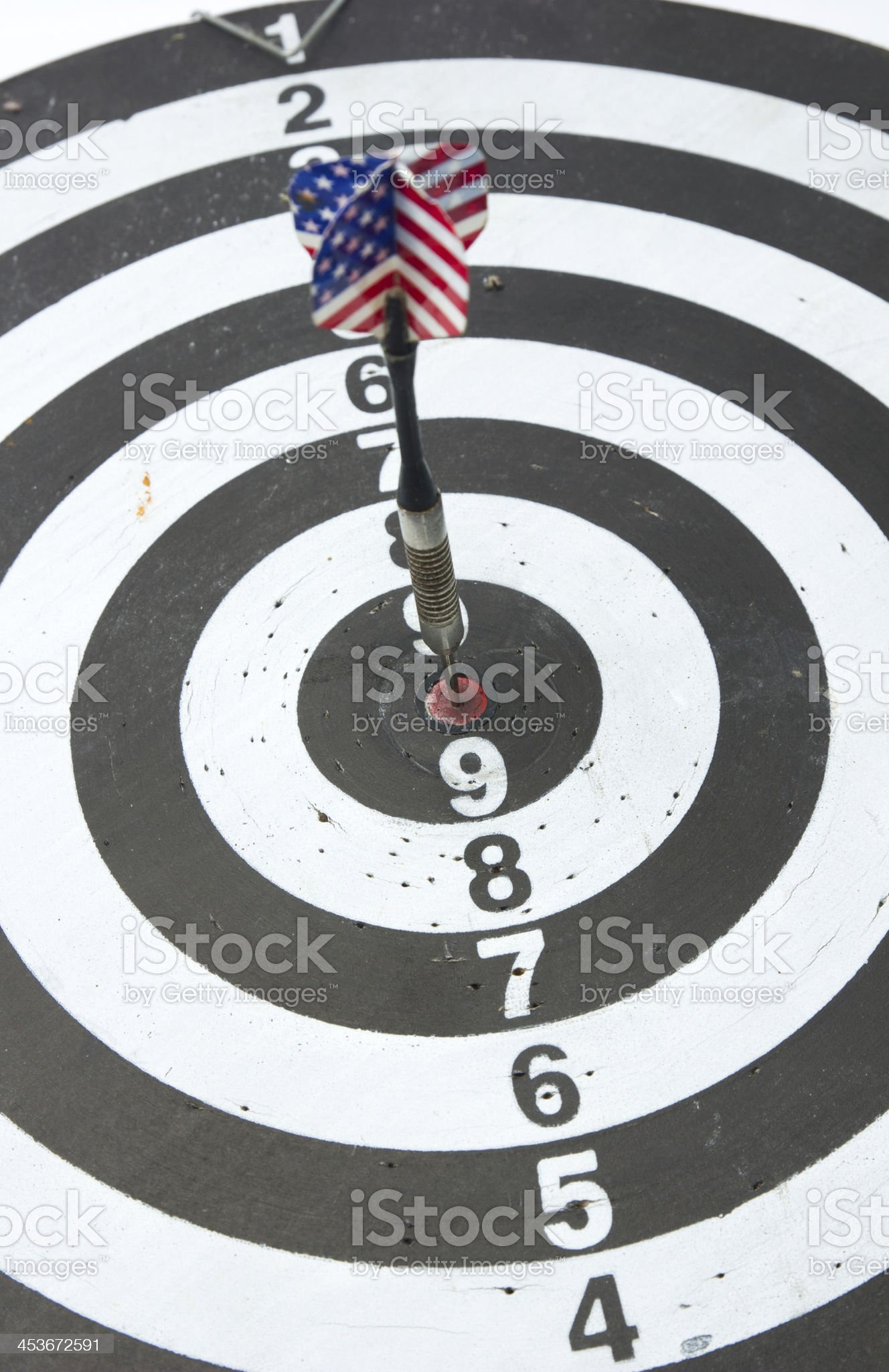 Darts Arrows  In The Center royalty-free stock photo