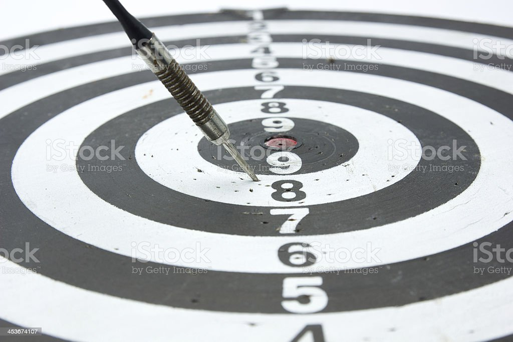 Darts Arrows  In The Number 8 royalty-free stock photo
