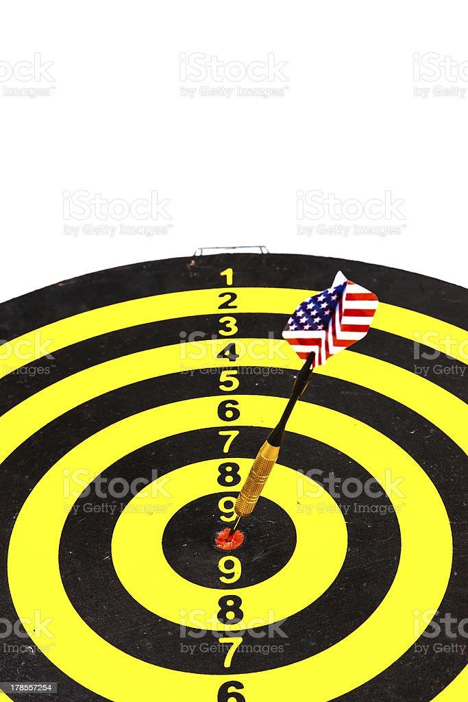 Darts board and arrows royalty-free stock photo