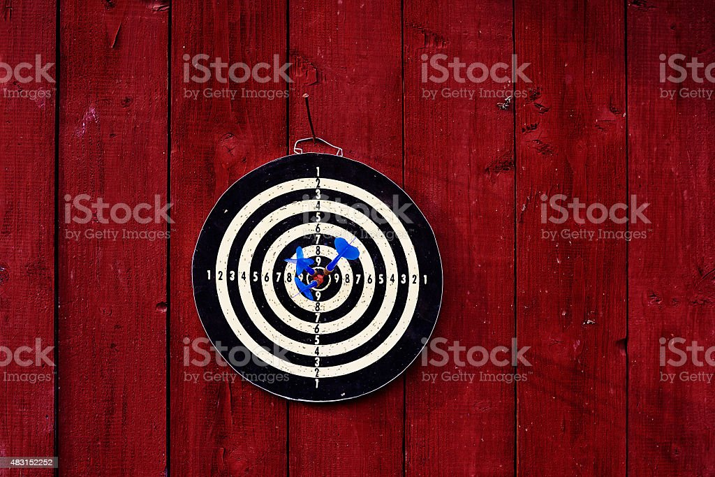 darts board stock photo