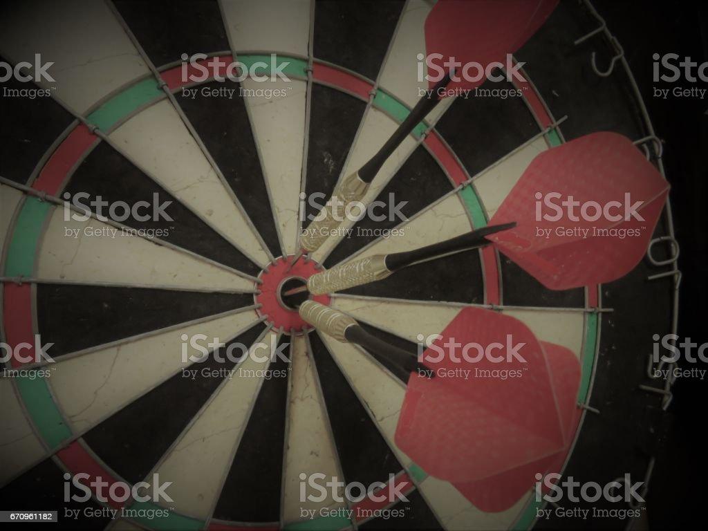 Darts Bulls-eye stock photo