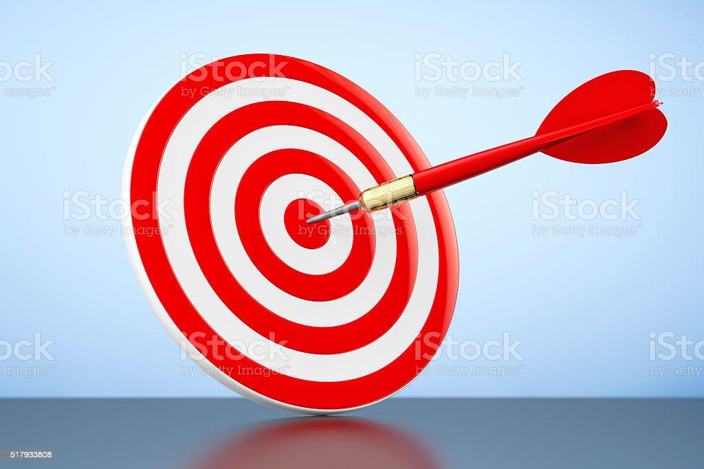 Darts Hitting The Target stock photo