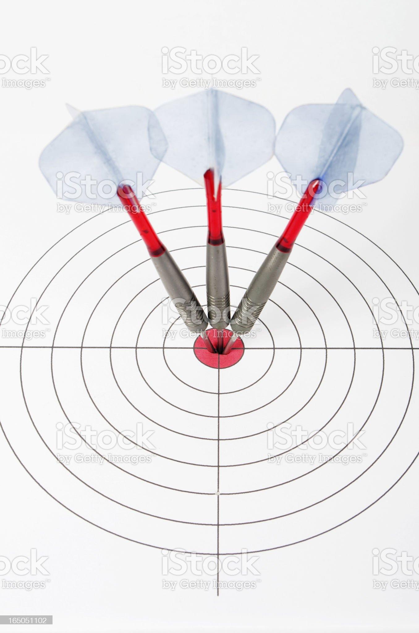 Darts In Target royalty-free stock photo