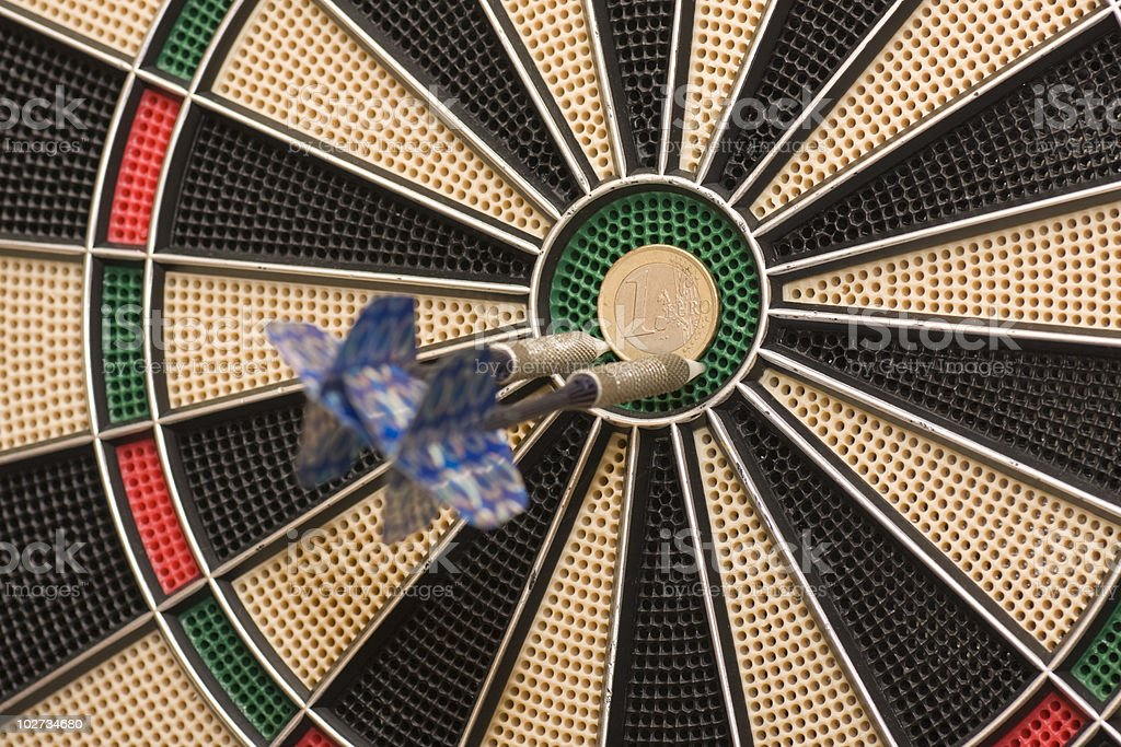darts in the euro royalty-free stock photo