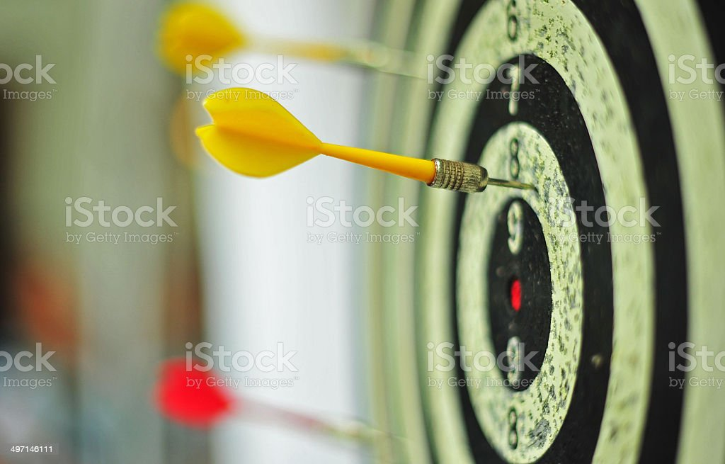 Darts - Miss Target stock photo