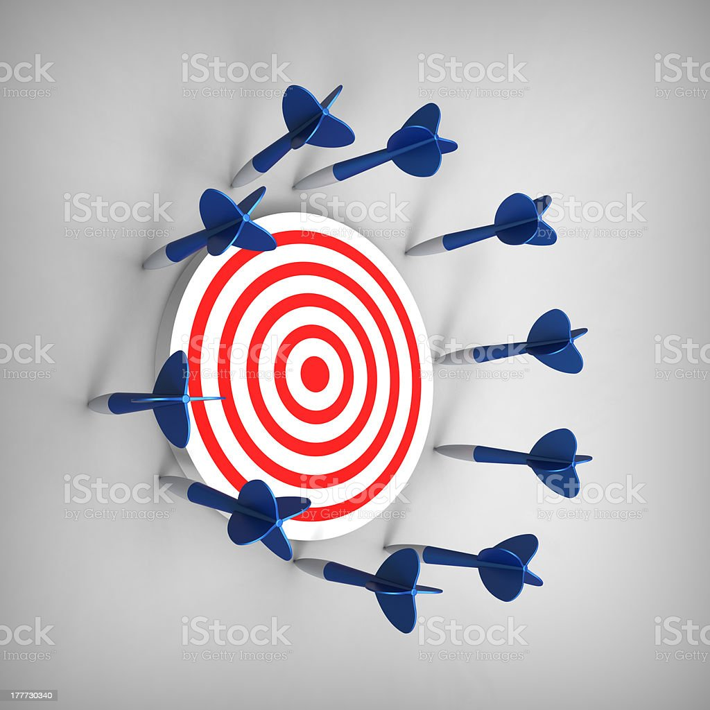 Darts missed its target stock photo