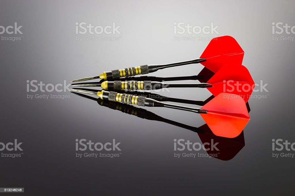 Darts of the game stock photo