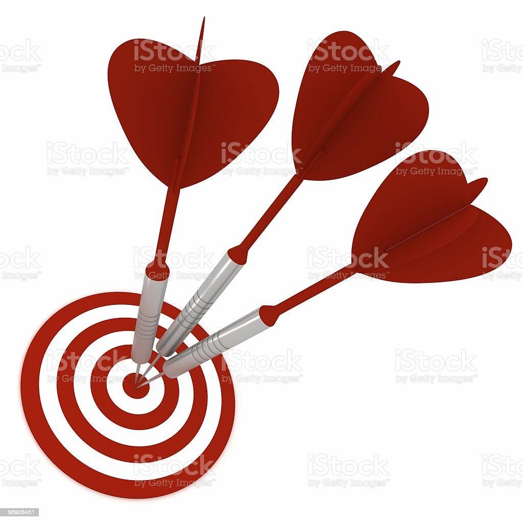 Darts on Target royalty-free stock photo
