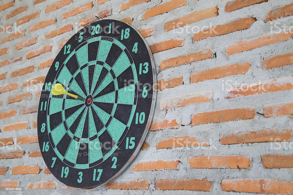 Darts on wall royalty-free stock photo