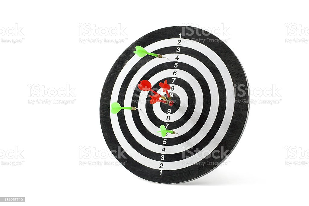 Darts Target Competition royalty-free stock photo