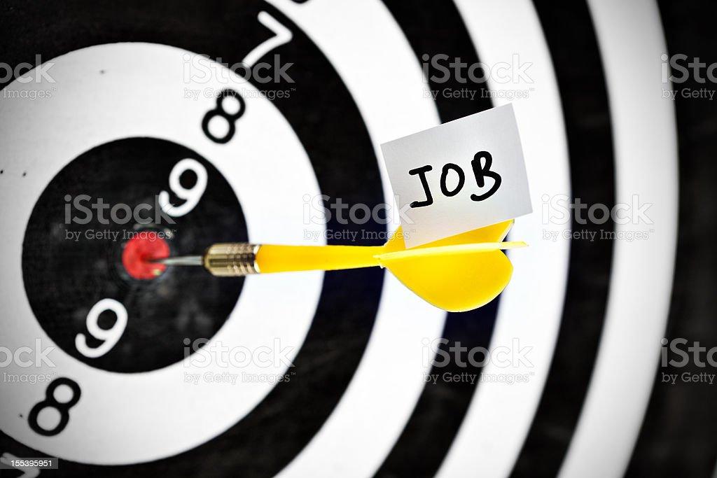 Darts target concept: job royalty-free stock photo