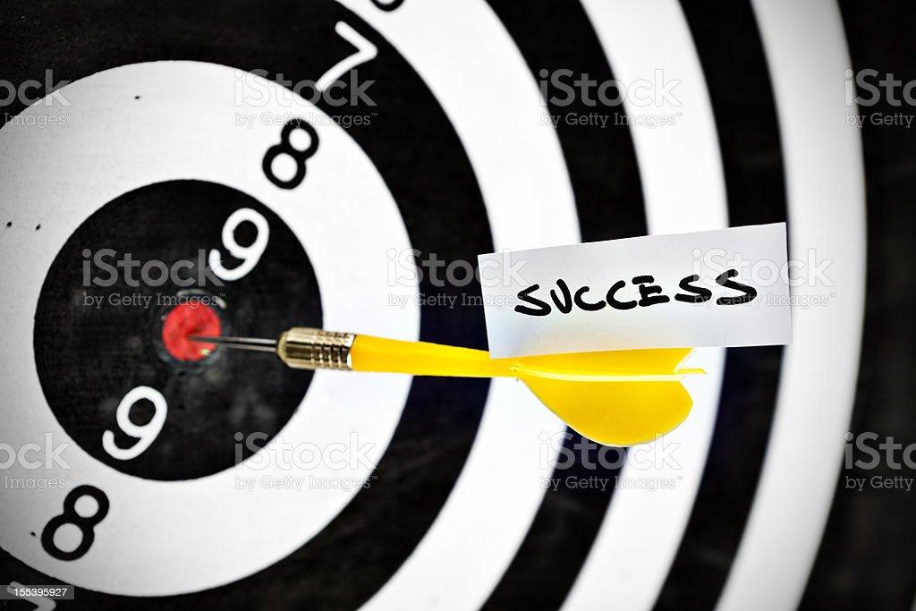Darts target concept: success royalty-free stock photo