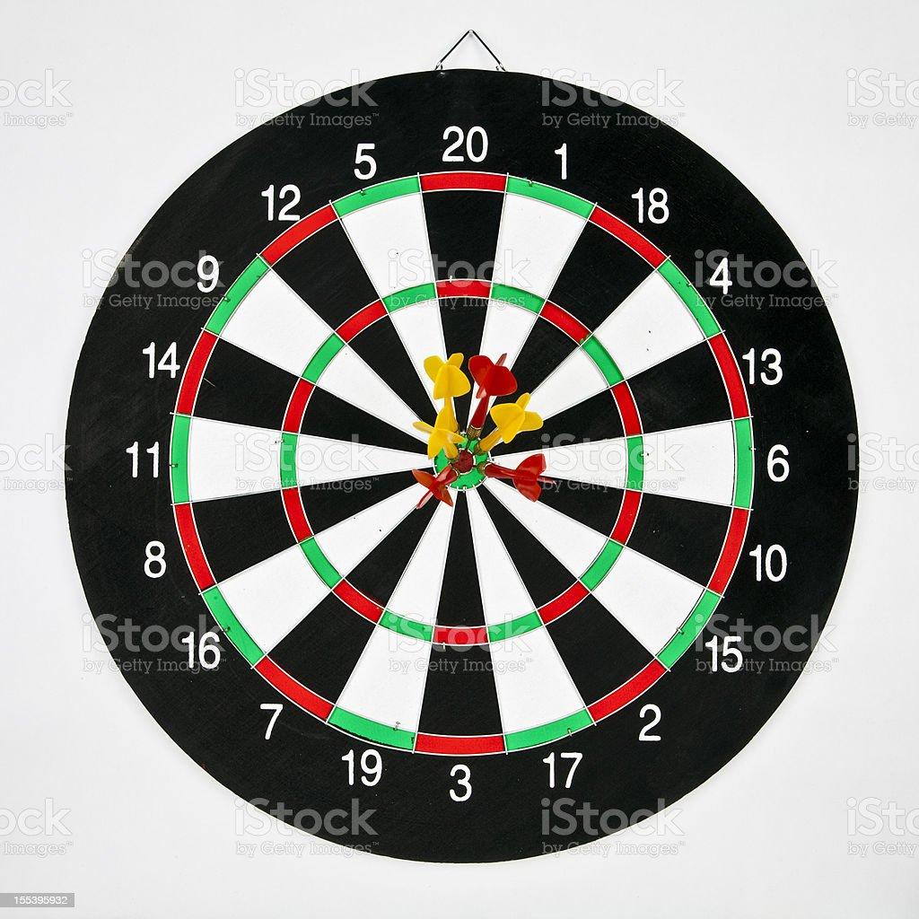 Darts target concept: win royalty-free stock photo