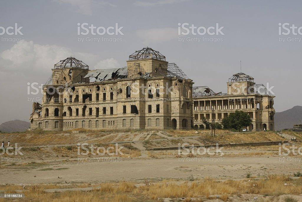 Darul Aman Palace in Kabul stock photo